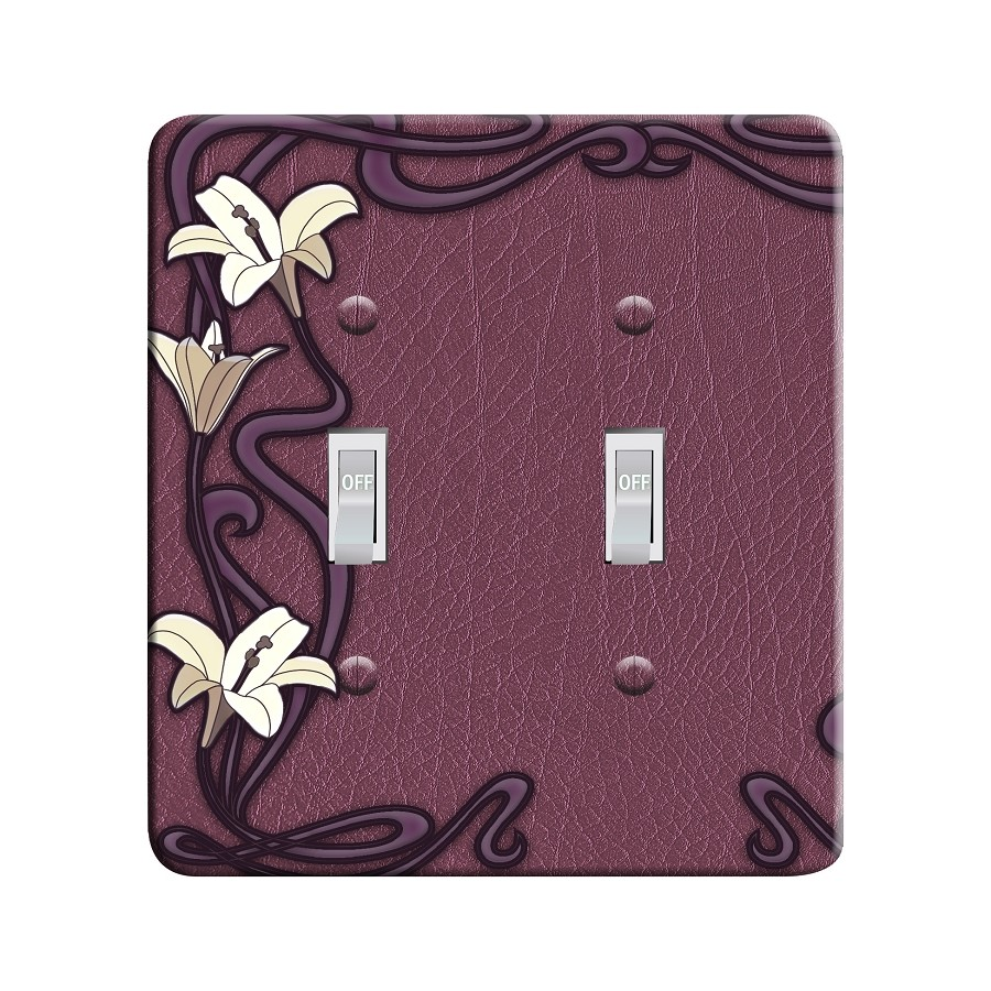 Embossi Printed Maxi Metal Art Nouveau Lily Plate - Light Switch / Outlet Cover Custom Plate Choose Style, 0520 L