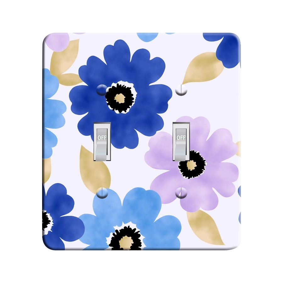 Embossi Printed Cool Colors Cosmos Light Switch / Outlet Cover Custom Plate Choose Style, 55 D