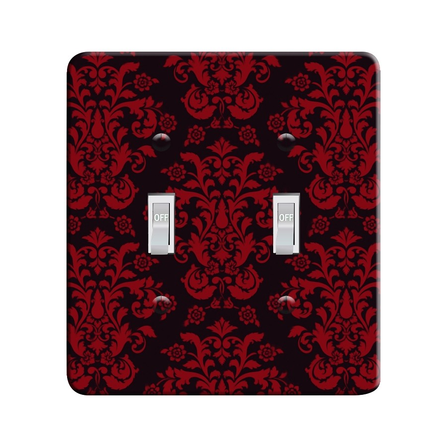 Embossi Printed Botticelli Damask  Light Switch / Outlet Cover Custom Plate Choose Style, 701C