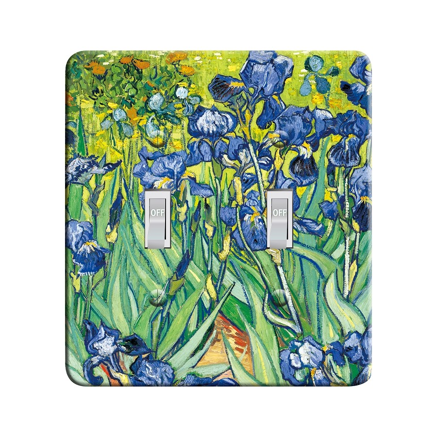 Embossi Printed  Van Gogh Iris - Light Switch / Outlet Cover Custom Plate Choose Style, 77 D