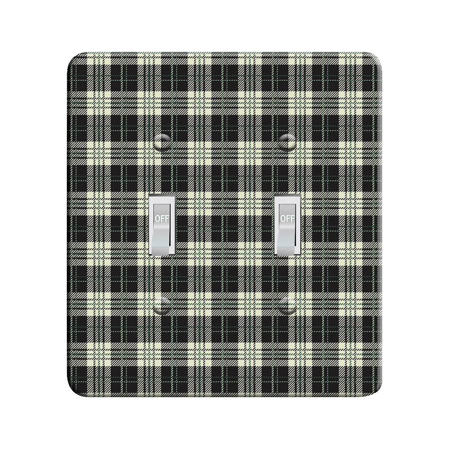 Embossi Printed  Pine Buffalo  Plaid - Light Switch / Outlet Cover Custom Plate Choose Style, 95 DA
